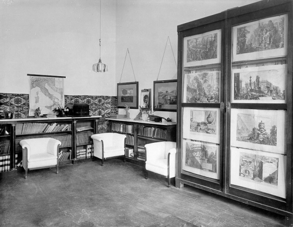 Engraving exhibition in the BSR, c.1920s, BSR Fine Arts Archive