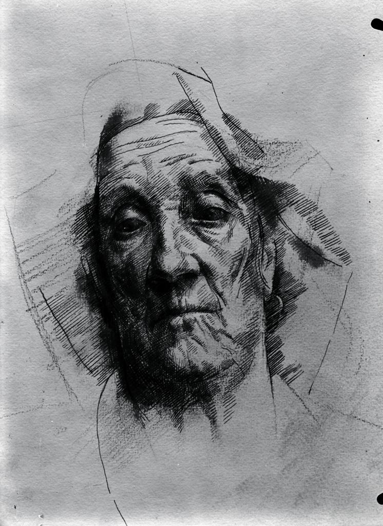 Monnington Collection, Portrait study 1 (BSR Fine Arts Archive)