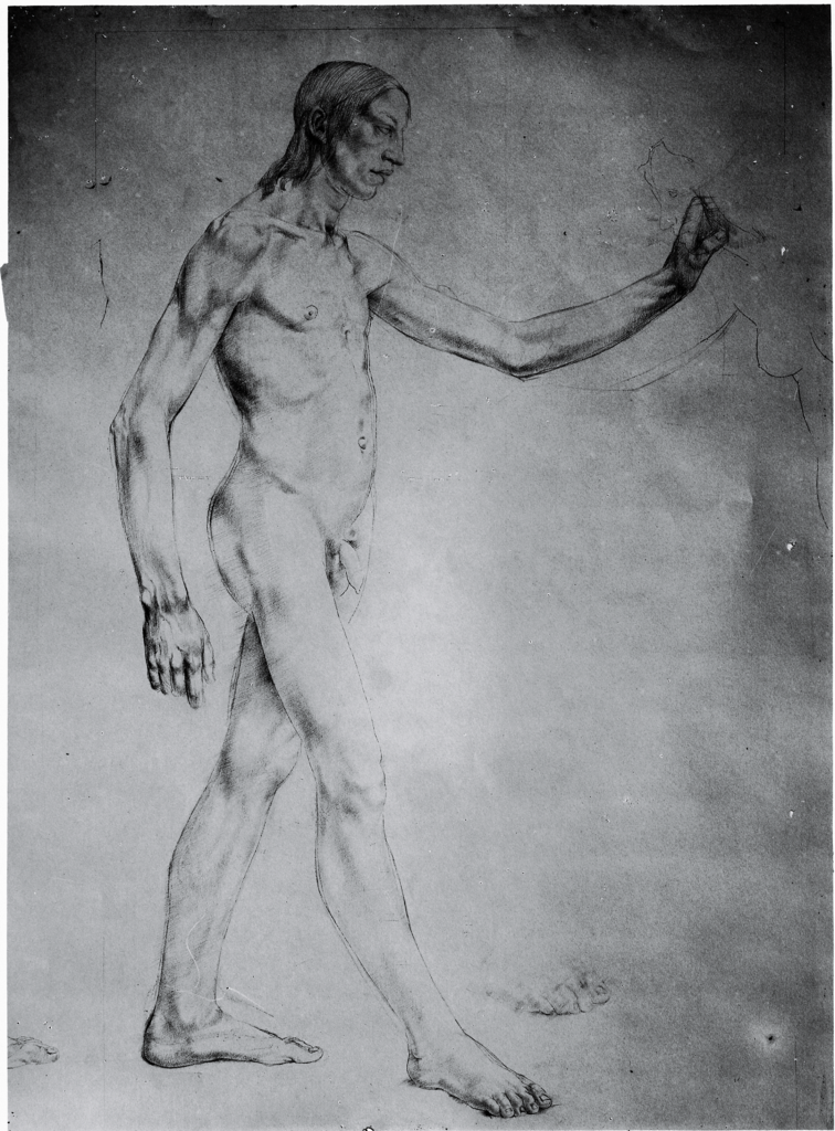 Monnington Collection, study for Allegory man 1 (BSR Fine Arts Archive)