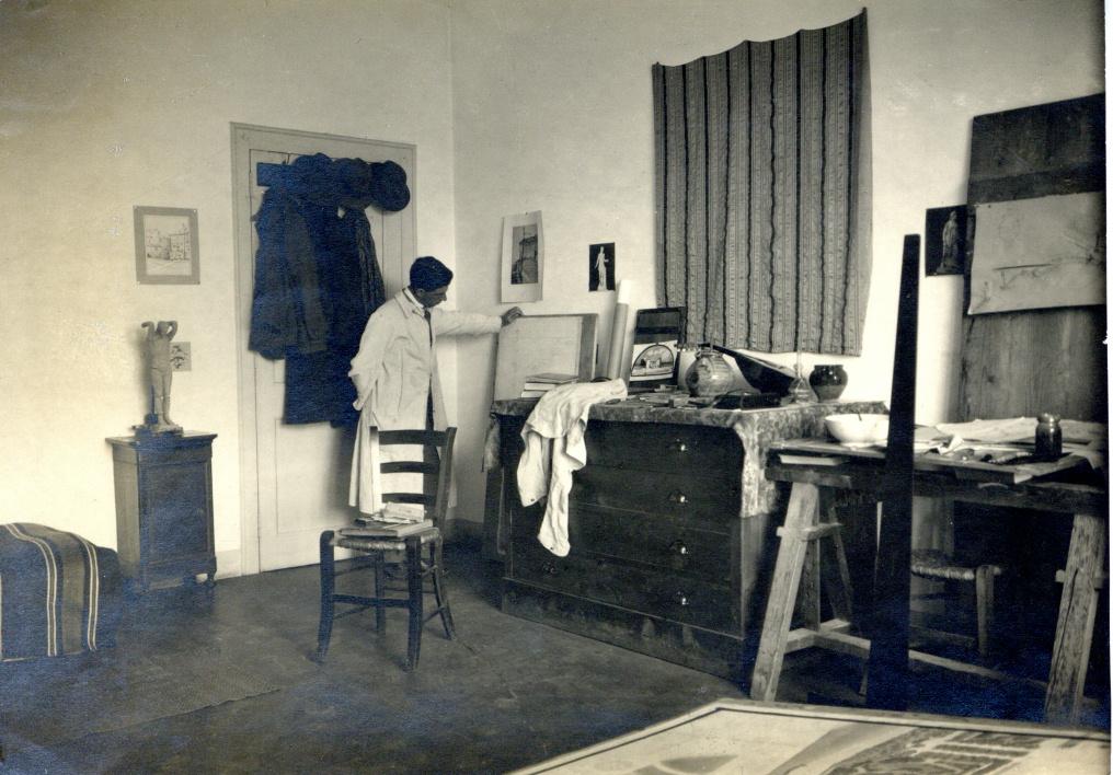 F Lawrence in Studio, BSR Fine Arts Archive