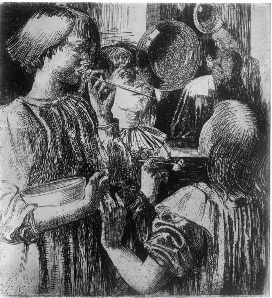 Lilian Whitehead, Bubbles (c.1921), BSR Fine Arts Archive